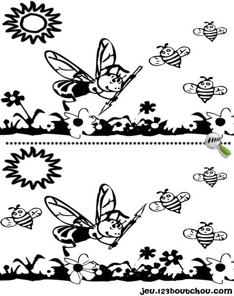 7 différences enfant fiche 7 différences fetes / printemps