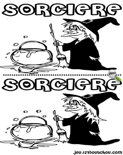 Jeu des 5 diff rences 39 sorciere 39 gratuit en ligne imprimer pour enfants jeux des 5 - Jeux de sorciere potion magique gratuit ...
