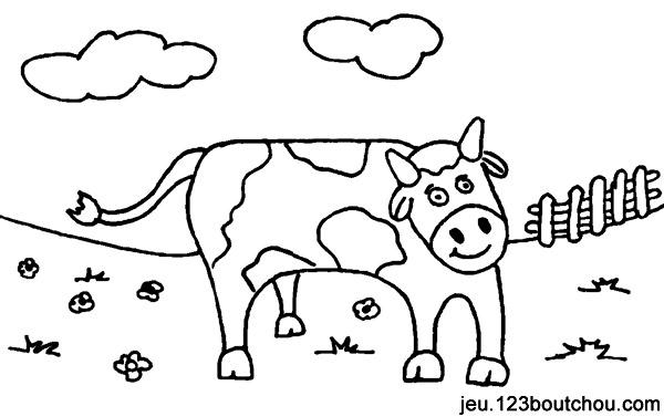 Coloriage Animal Pistache La Vache Pour Enfants à Imprimer