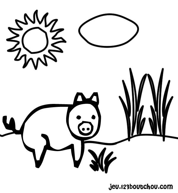 Coloriage Cochon Maternelle.Pito Le Plus Rigolo Pour Enfants A Imprimer Gratuitement