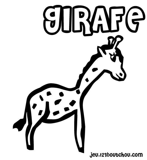 Coloriage Girafe Maternelle.Le Cou De Madame Girafe Pour Enfants A Imprimer Gratuitement