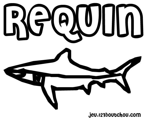Maman papa expliquez moi ce joli coloriage d 39 enfant - Requin a imprimer ...