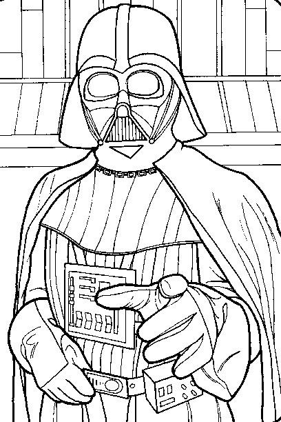 coloriage star wars - Coloriage Star Wars Imprimer