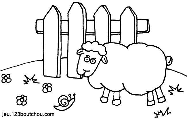 Coloriage Ferme Maison.Coloriage Ferme Simon Le Mouton Pour Enfants A Imprimer