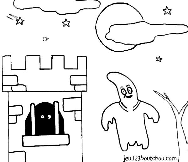 Coloriage Halloween Casper Le Fantôme Pour Enfants à