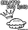 coloriage enfant image fève et fête galette-rois