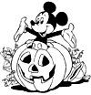 coloriage enfant Halloween et Disney
