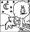 coloriage enfant Chouette et hibou