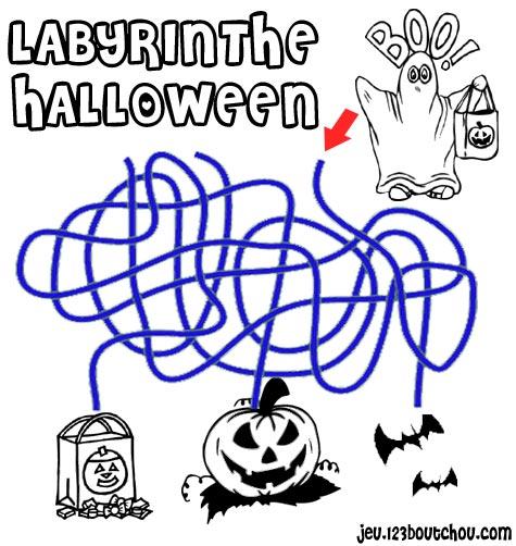 labyrinthe 'Naufragé du labyrinthe dédale de halloween pour une assistante maternelle a imprimer ...