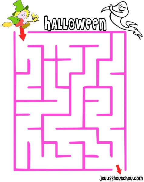 Labyrinthe 39 jeux labyrinthe de halloween et le fil d for Jeu exterieur maternelle