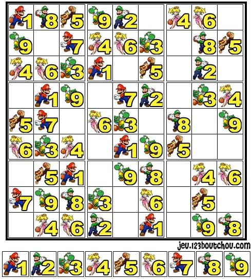 Jeu de sudoku 39 grille sudoku mario n 3 39 pour enfant a imprimer gratuit de 0 5 ans - Mario gratuit ...