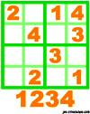 sudoku enfant Grille sudoku simple n° 2