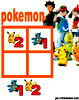 sudoku enfant Grille sudoku Simple pokemon n° 1