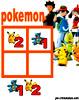 sudoku enfant Grille sudoku Simple pokemon n° 1