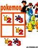 sudoku enfant Grille sudoku Simple pokemon n° 3