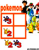 sudoku enfant Grille sudoku Simple pokemon n° 4